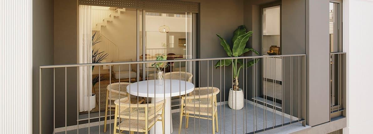 La mitad de las viviendas de obra nueva que se compran disfruta de espacios al aire libre